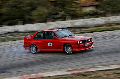 red BMW E30 M3
