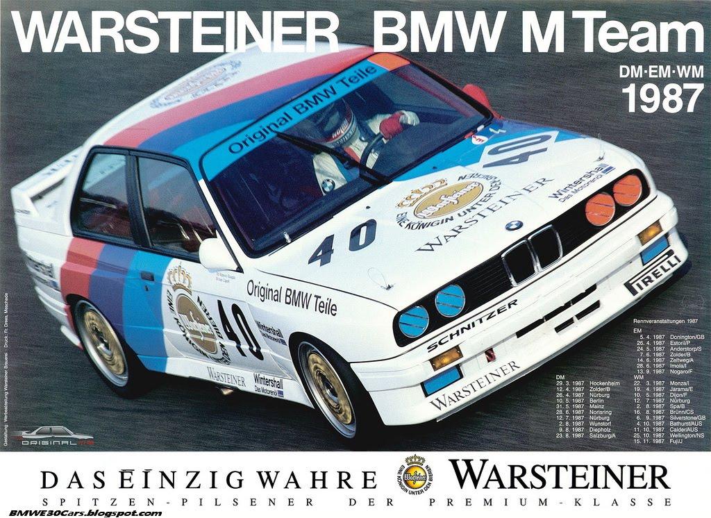 80s BMW E30 DTM Posters 6SpeedOnline Porsche Forum