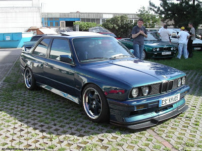 E30 M3 with E36 M3 front splitter