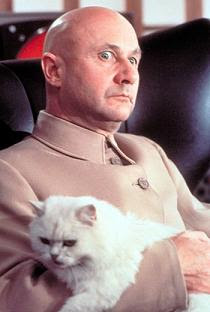 Evil Guy Petting Cat