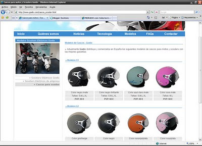 Cascos scooter