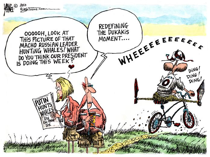 Image result for obama bicycle cartoon