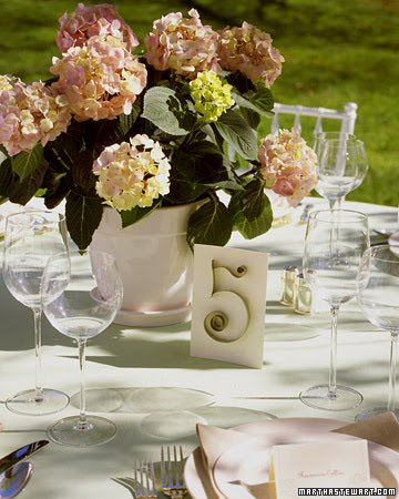 Create your own table setting numbers while adding a little art into your