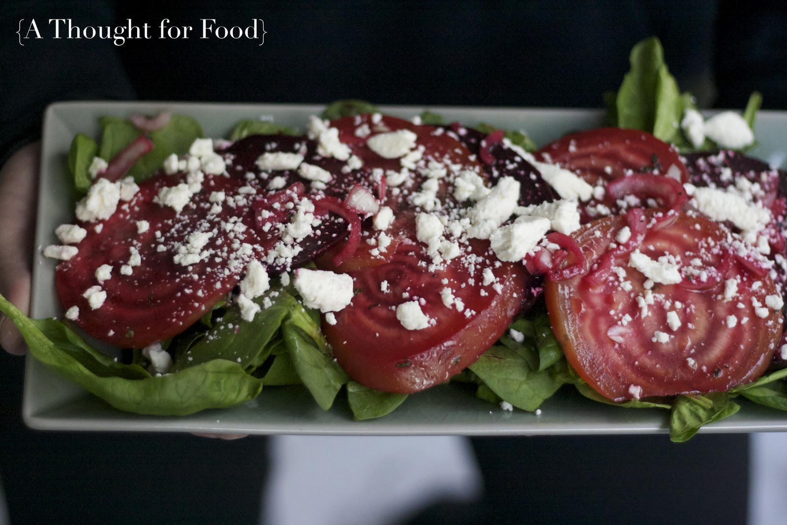 Pickled Beets with Feta via A Thought For Food - www.athoughtforfood ...