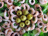 green salad shrimp
