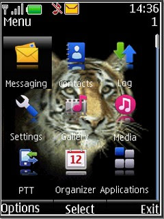 Animated Tiger s40v3 theme by The Shadow