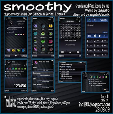 Smoothy Symbian Theme For Nokia N series E Series & Xpress Music Phones