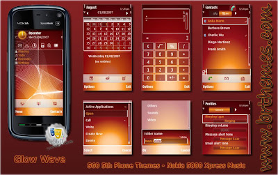 Nokia 5800XM Themes : Glow Wave by Blue_Ray