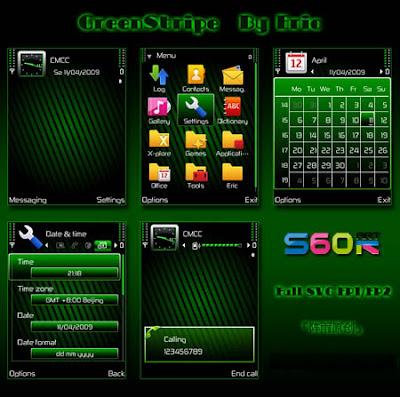 Green Stripe by Eric symbian theme