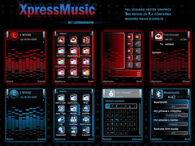 XpressMusic Red and Blue Theme By Lutongmakaw