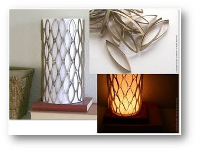 how to recycle a cardboard tube into a lamp shade