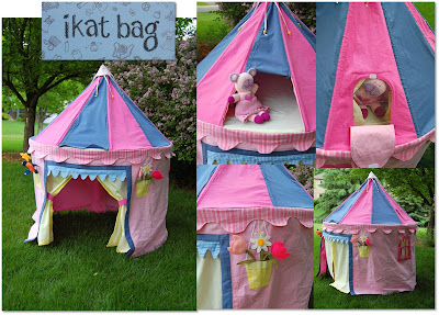 home made diy princess tent for the yard