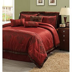 Dark Red Comforter Set