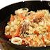 Tre cereali con calamari al sapore di Tabasco