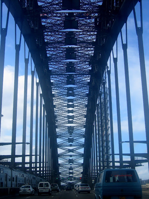 driving over the sydney harbour bridge