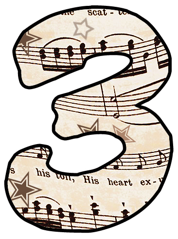 artbyjean paper crafts alphabet set vintage sheet music clipart rh artbyjean blogspot com free sheet music clipart images sheet music clipart images
