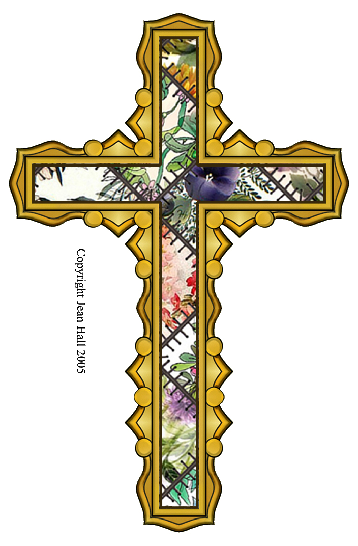 how to make a cross with 4 piecez of paper