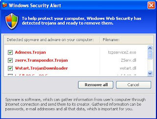 Fake Windows Security Alert - Fake Admess.Trojan