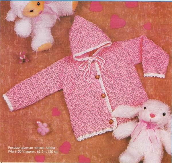 Kız bebek hırka örnekleri kapşonlu kız ceket çeşitleri