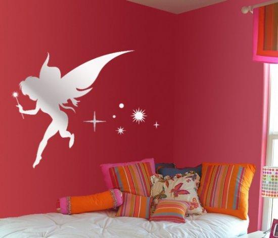 Aynali duvar stickerlari genc kiz odasi duvar stickerlari yatak