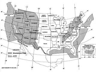 Zona ADIZ definida por la FAA