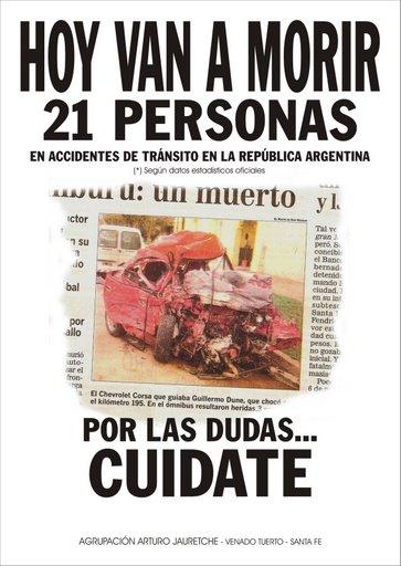 Aujourd'hui vont mourir 21 personnes, par precaution, fais attention !