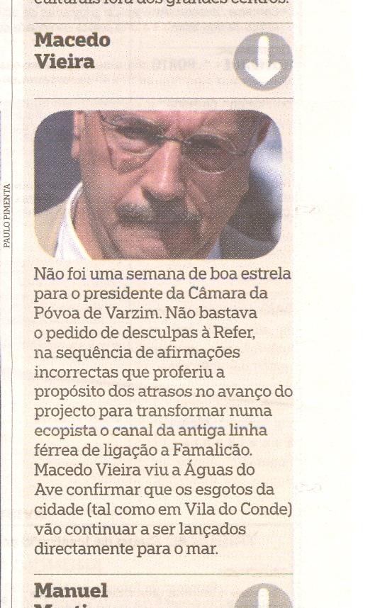 Macedo Vieira no PÚBLICO