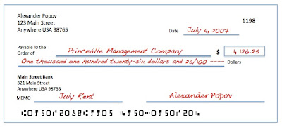 Write A Check Even Amount - Check-filled-out