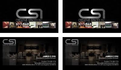 buisiness card design for interior design company