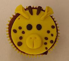 Cupcake de girafa.