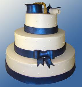 Simple Fondant Graduation Cake