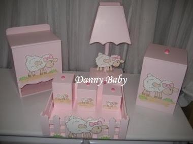 kit higiêne de carneirinho/ ovelha para menina