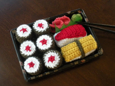 The Itsy Bitsy Spider Crochet: Sushi!