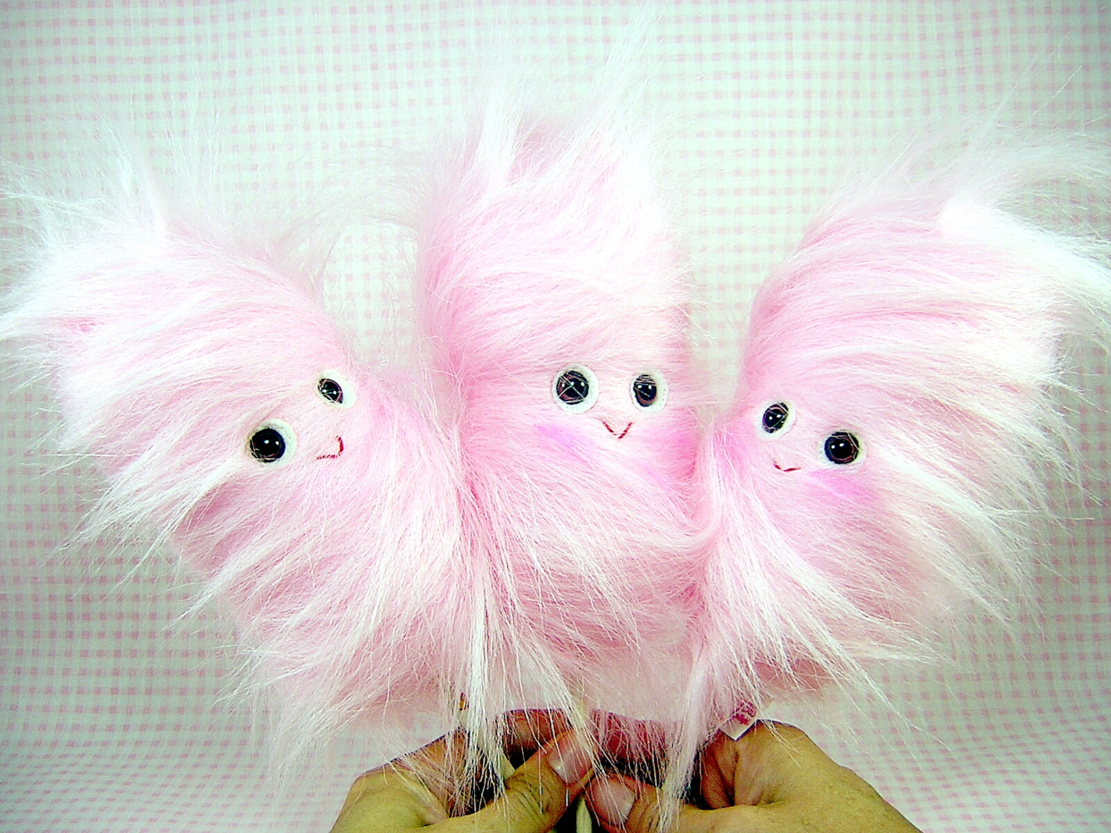 Pink Cotton Candy Plushies