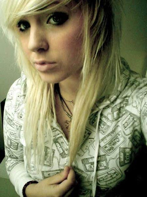 Short Blonde Emo Hairstyle