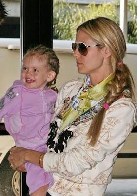 super model Heidi Klum haircuts