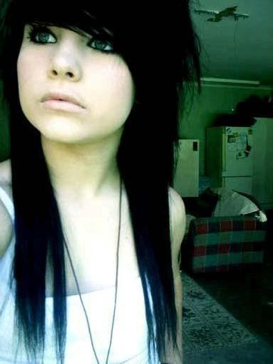 Emo Hair Styles With Best Black Long Emo Haircuts Styles Galleries Pics