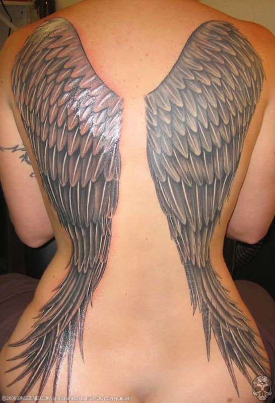 Back Wings Tattoo For Women. Back Wings Tattoo For Women