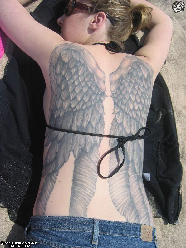 Back Wings Tattoo For Women