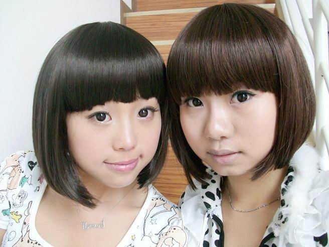 girls cute asian bob hairstyle