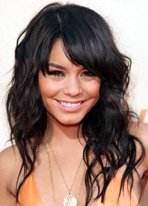 Celebrity Vanessa Hudgens Long Curly Hairstyle 2009-2010
