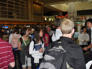 Students in the Salt Lake City Airport