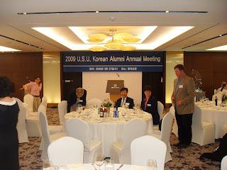 The Korean USU Alumni at the Alumni Dinner.