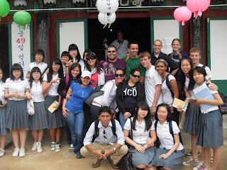 Students in the Ulsan area of Korea