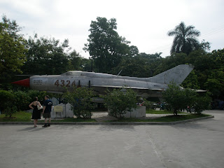 An exhibit from a war museum in Vietnam