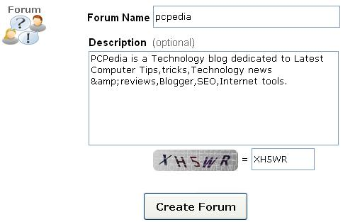 forum name and description