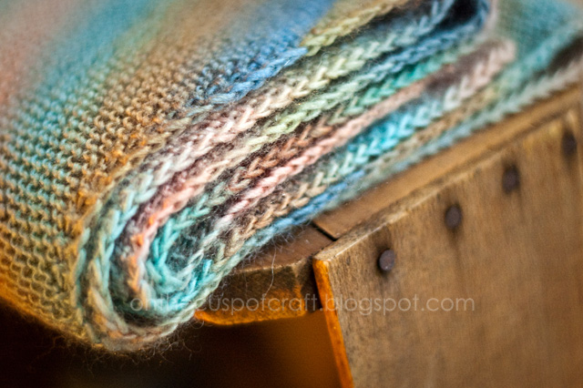 On The Cusp Of Craft Diagonal Garter Stitch Scarf