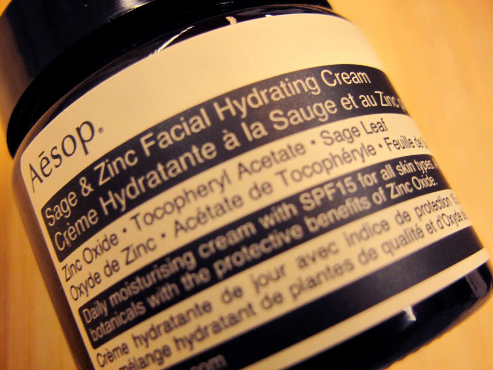 aesop Sage & Zinc Facial Hydrating Cream SPF15 Aesop 新概念店 上環