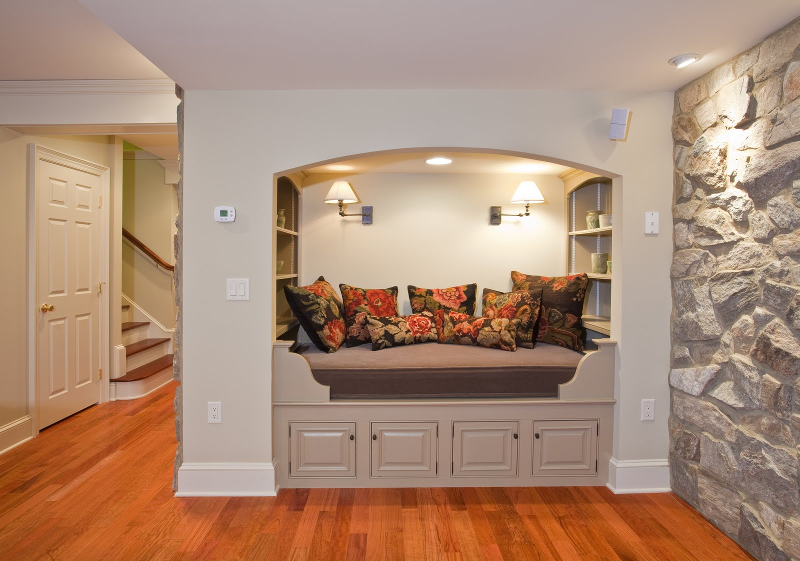 Gracious interiors basement becomes lower level suite - Basement design ideas photos ...