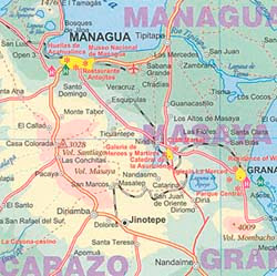 NicaraguaLocation Physical Features - Physical map of nicaragua